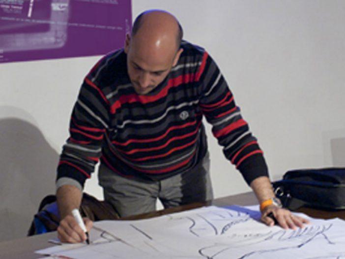 César Oroz en la Escuela de Arte de Pamplona