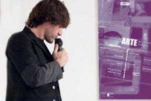 David Arratibel en la Escuela de Arte de Pamplona