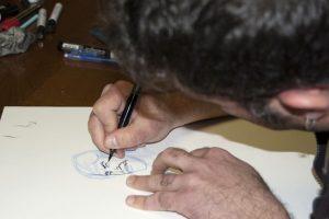 Charla-taller del dibujante BELATZ, para el alumnado de Autoedición y Grabado