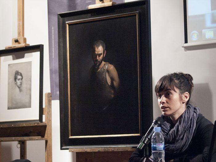 Amaya Gúrpide en la Escuela de Arte de Pamplona
