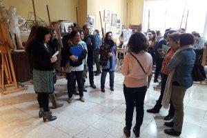 Orientadores/as de otros centros educativos visitan la Escuela de Arte