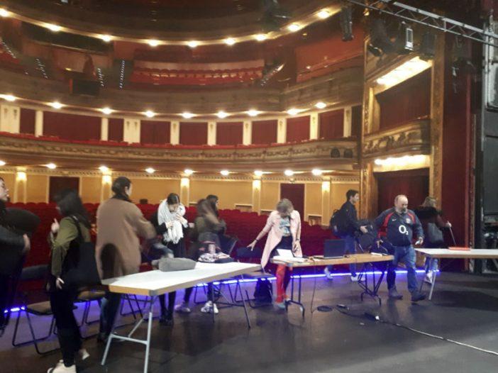 Sesión técnica para proyecto escenográfico en el Teatro Gayarre
