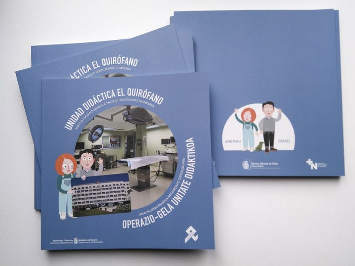Unidad didáctica el quirófano, publicación de gráfica impresa en colaboración con el Aula Hospitalaria
