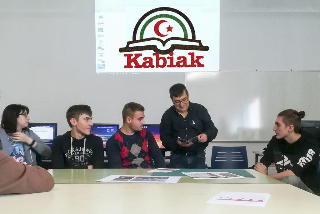 Folleto de Gráfica impresa para la asociación Saharako Kabiak