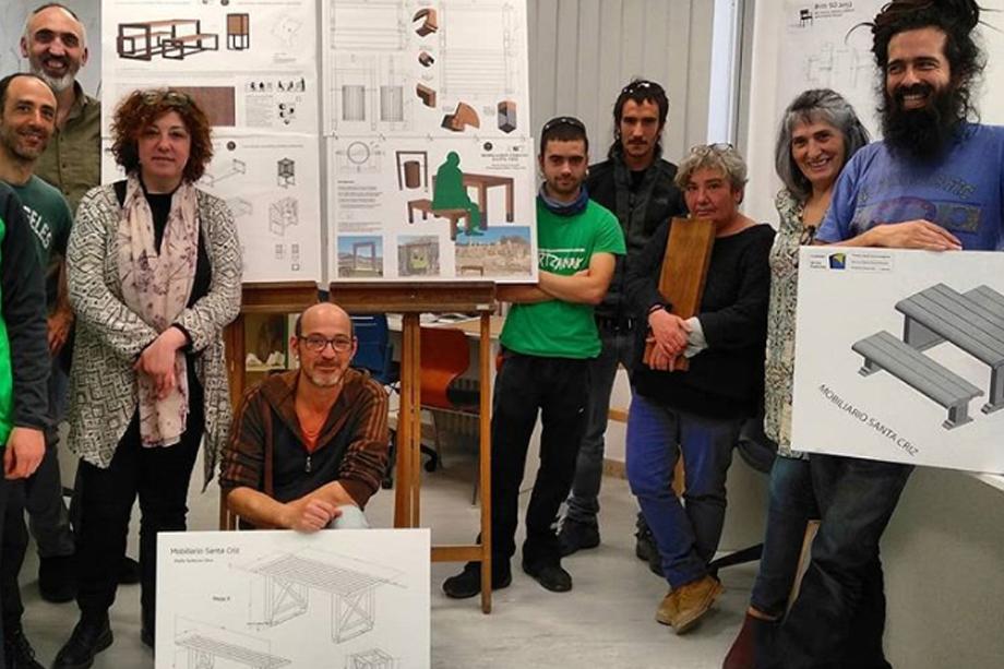 Ebanistería diseña el mobiliario urbano para Santa Criz