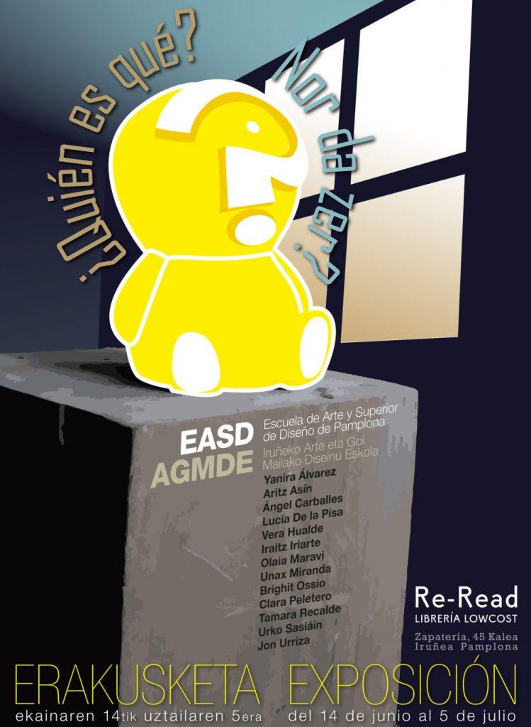 Cartel Exposición escultura de Bachillerato en librería Re-read2019