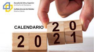 Escuela Arte Pamplona - Calendario 2020-2021