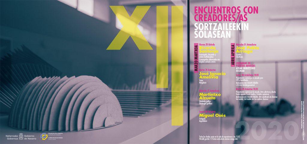 Cartel para la XII edición de los encuentros con creadores y creadoras 2020