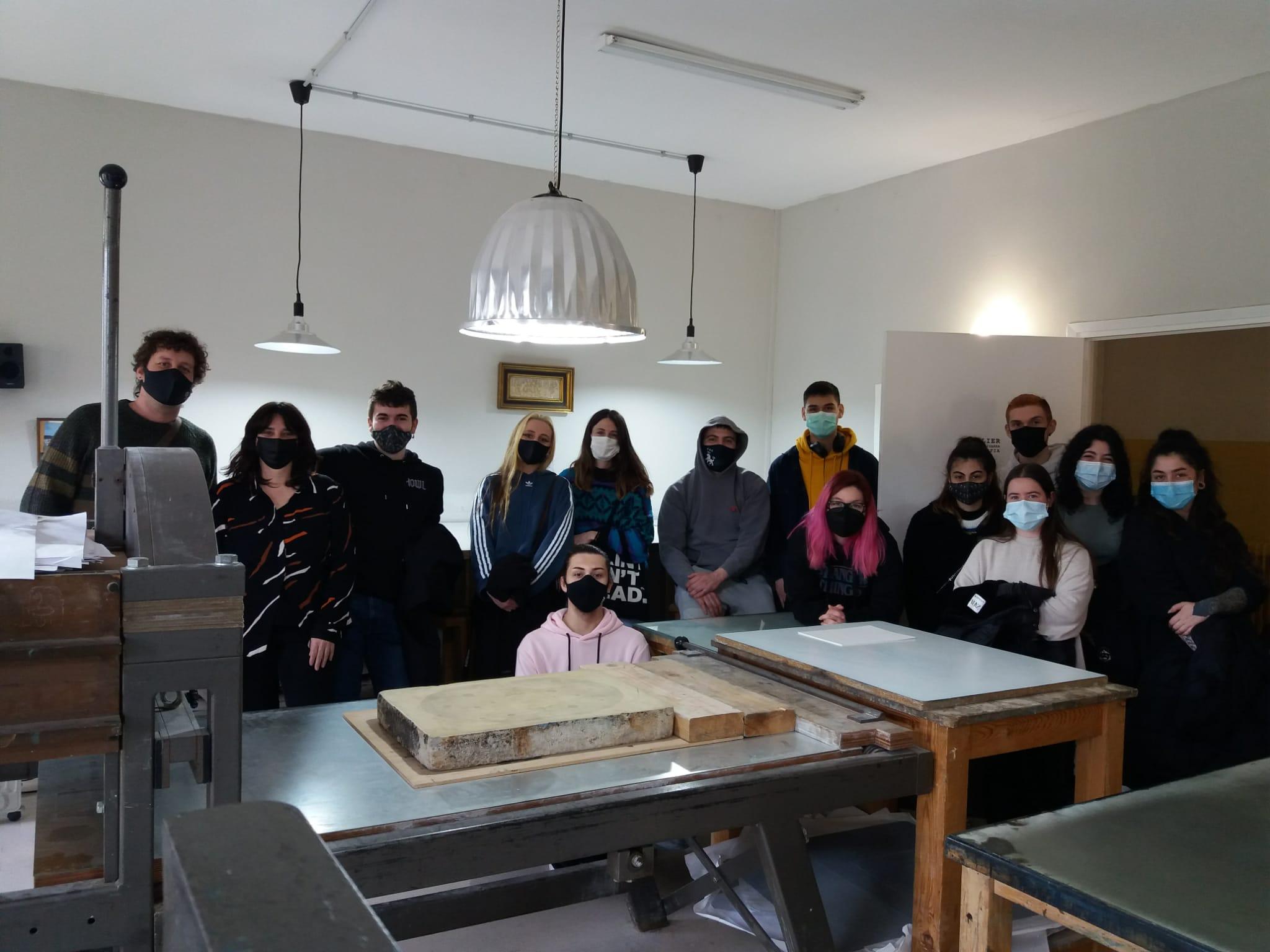 2° de Grabado y Técnicas de Estampación EASDP en el Atelier Estella Lizarra